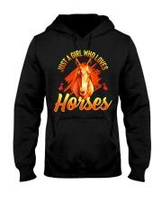Just A Girl Who Loves Horses Hooded Sweatshirt thumbnail