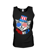 Red White Blue Cat 4th of July Meowica Unisex Tank thumbnail