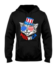 Red White Blue Cat 4th of July Meowica Hooded Sweatshirt thumbnail