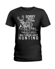 Funny Hunting Ladies T-Shirt tile