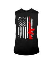 AR-15 Assault Rifle USA Flag Gun T Shirt  Sleeveless Tee thumbnail
