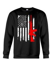 AR-15 Assault Rifle USA Flag Gun T Shirt  Crewneck Sweatshirt thumbnail