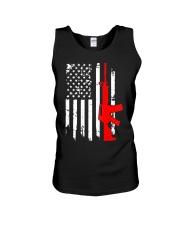 AR-15 Assault Rifle USA Flag Gun T Shirt  Unisex Tank thumbnail
