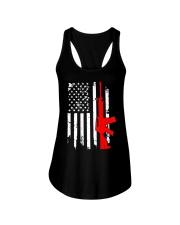 AR-15 Assault Rifle USA Flag Gun T Shirt  Ladies Flowy Tank thumbnail