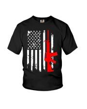 AR-15 Assault Rifle USA Flag Gun T Shirt  Youth T-Shirt thumbnail