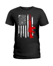 AR-15 Assault Rifle USA Flag Gun T Shirt  Ladies T-Shirt thumbnail