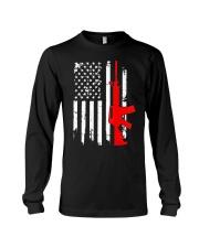AR-15 Assault Rifle USA Flag Gun T Shirt  Long Sleeve Tee thumbnail