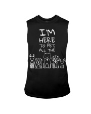 I'm Here to Pet All the Dogs  Sleeveless Tee thumbnail