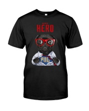 Pug Superhero  Classic T-Shirt front
