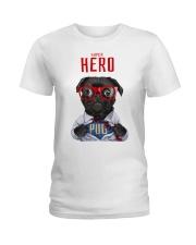 Pug Superhero  Ladies T-Shirt thumbnail
