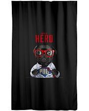 Pug Superhero  Window Curtain - Sheer thumbnail