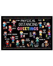 Classroom Poster - Physical Distancing Greetings 24x16 Poster front