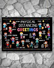 Classroom Poster - Physical Distancing Greetings 24x16 Poster poster-landscape-24x16-lifestyle-14