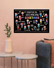 Classroom Poster - Physical Distancing Greetings 24x16 Poster poster-landscape-24x16-lifestyle-22