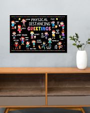 Classroom Poster - Physical Distancing Greetings 24x16 Poster poster-landscape-24x16-lifestyle-25