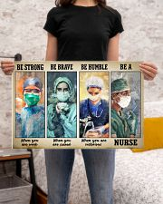 Great Nurse - Be Strong - Be Brave - Be Humble 24x16 Poster poster-landscape-24x16-lifestyle-20
