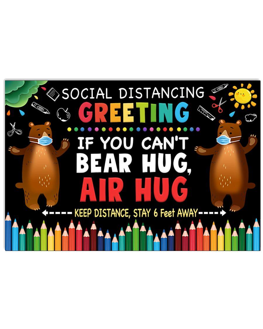Social Distancing Greetings - Can't Bear Hug 24x16 Poster