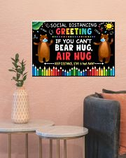 Social Distancing Greetings - Can't Bear Hug 24x16 Poster poster-landscape-24x16-lifestyle-22