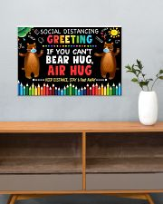 Social Distancing Greetings - Can't Bear Hug 24x16 Poster poster-landscape-24x16-lifestyle-25
