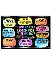 Music - What to listen for in Music  24x16 Poster front
