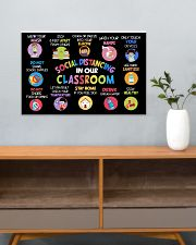 Classroom Poster - Social Distancing Reminders 24x16 Poster poster-landscape-24x16-lifestyle-25