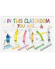 Classroom Poster - Crayons - Back To School 17x11 Poster front