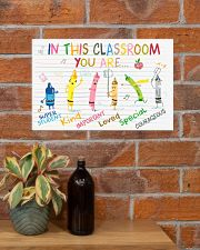 Classroom Poster - Crayons - Back To School 17x11 Poster poster-landscape-17x11-lifestyle-23