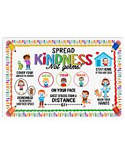 Classroom Poster - Spread Kindness Not Germs 24x16 Poster front