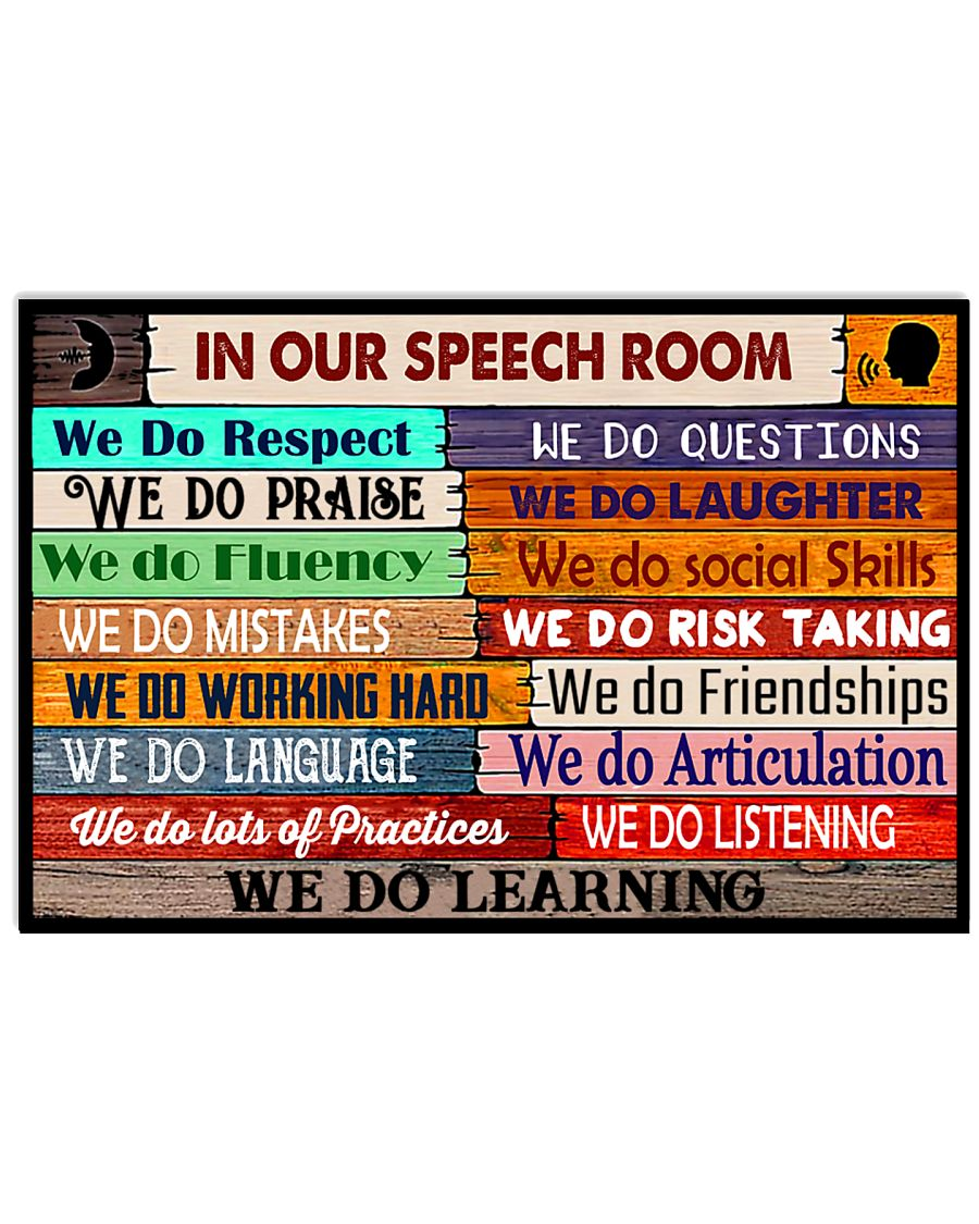 SLP Poster - In Our Speech Room 24x16 Poster