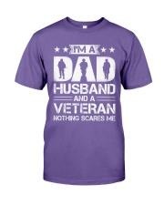 Veteran - Dad and Husband Premium Fit Mens Tee tile