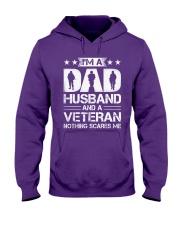 Veteran - Dad and Husband Hooded Sweatshirt tile