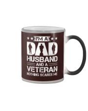 Veteran - Dad and Husband Color Changing Mug tile