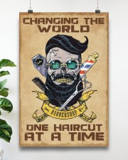 Barber - Changing the world one haircut at a time 16x24 Poster aos-poster-portrait-16x24-lifestyle-17