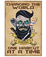 Barber - Changing the world one haircut at a time 16x24 Poster front