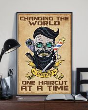 Barber - Changing the world one haircut at a time 16x24 Poster lifestyle-poster-2