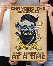 Barber - Changing the world one haircut at a time 16x24 Poster poster-portrait-16x24-lifestyle-19