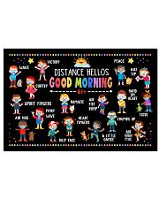 Good Morning Poster - Distance Hellos - 6ft Away 24x16 Poster front