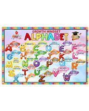 Classroom Poster - Growth Mindset Alphabet  24x16 Poster front