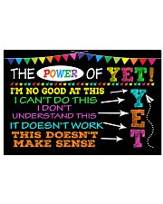 Education Poster - The Power of Yet  17x11 Poster front