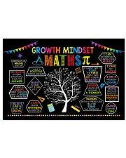Maths Poster - Growth Mindset 24x16 Poster front