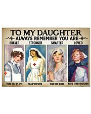 Nurse Daughter - Braver - Stronger 24x16 Poster front