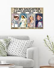 Nurse Daughter - Braver - Stronger 24x16 Poster poster-landscape-24x16-lifestyle-01