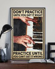 Piano - Practice until you can't get it wrong 16x24 Poster lifestyle-poster-2