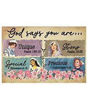 Nurse - God says You are Unique - Special - Strong 24x16 Poster front