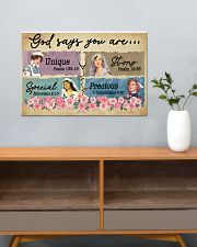 Nurse - God says You are Unique - Special - Strong 24x16 Poster poster-landscape-24x16-lifestyle-25