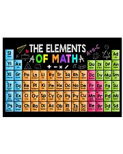 Math Teacher Poster - The Elements of Math 17x11 Poster front