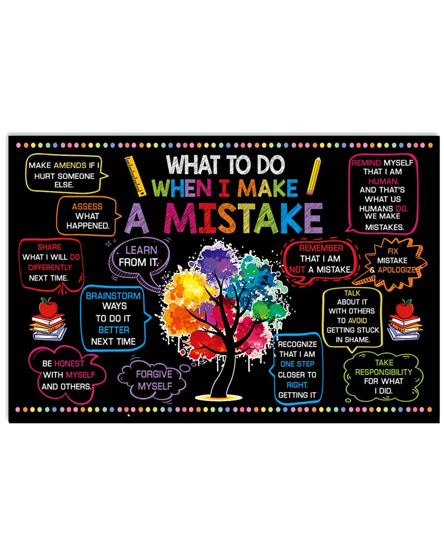 Classroom Poster - When I Make  A Mistake  24x16 Poster