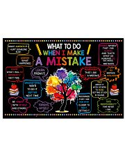 Classroom Poster - When I Make  A Mistake  24x16 Poster front