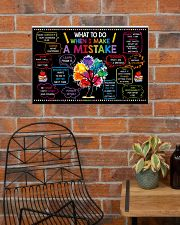 Classroom Poster - When I Make  A Mistake  24x16 Poster poster-landscape-24x16-lifestyle-24