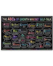 Classroom poster - The ABC's of growth mindset   24x16 Poster front